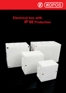 Electrical box with IP 66 Protection