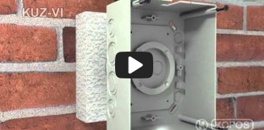 Embedded thumbnail for Universalios dėžutės į termoizoliaciją KUZ-VI su dangčiu montavimo instrukcija