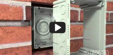 Embedded thumbnail for Universalios dėžutės KUZ-V su dangčiu montavimo instrukcija