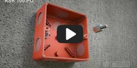 Embedded thumbnail for Gaisrui atsparios dėžutės KSK 100 PO montavimo instrukcija