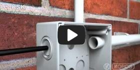 Embedded thumbnail for IP66 saugos klasės dėžutės KSK montavimo instrukcija